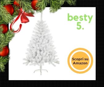 Solagua Navidad, albero di Natale bianco da 210 cm con rami effetto glitterato