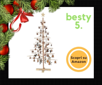 Xmas3 L, albero di Natale in legno naturale, alto 190 cm