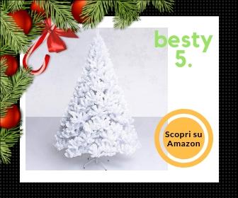 Sailun, albero di Natale bianco 210 cm, con sistema di montaggio rapido