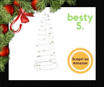 PureDay, albero di Natale realizzato in filo metallico