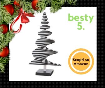 Areaware Infinite Tree, albero di Natale futuristico, in legno