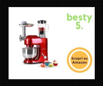 Klarstein Lucia Rossa • robot da cucina • mixer • impastatrice - Migliore Planetaria