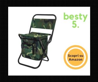 Sedia pieghevole fantasia mimetica con borsa termica integrata - Besty5