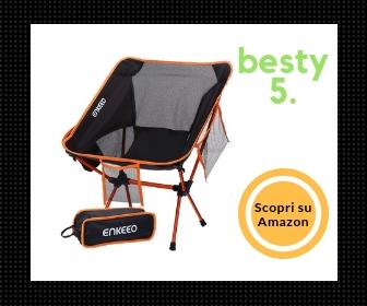 Enkeeo Migliore Sedie da Campeggio, Pieghevole e Portatile, Impermeabile - Besty5