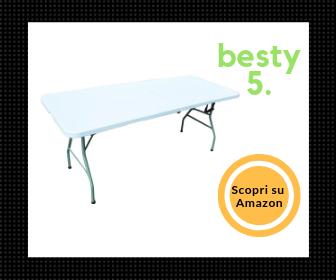 Redwood Leisure, tavolo pieghevole da 1,80 m - Il miglior tavolo pieghevole più robusto! - Besty5