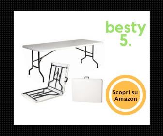 Snodec, tavolo pieghevole di grandi dimensioni in resina resistente, richiudibile a valigia – La nostra scelta Besty5