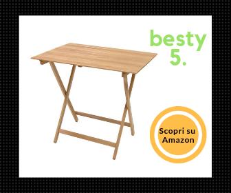 SF Savino Filippo, tavolo pieghevole in legno - Il più compatto Besty5