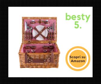 Miglior cestino da picnic in vimini per 4 persone, in stile country – Il miglior rapporto qualità-prezzo - Besty5