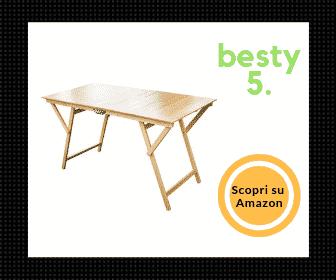 Laura, miglior tavolo pieghevole con piano in legno di faggio – Poco ingombrante! - Besty5