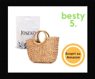 Joseko, borsa da spiaggia in paglia adatta anche in città - Besty5