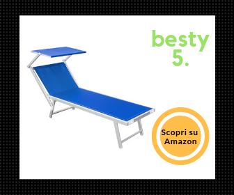 Miglior lettino prendisole da mare economico - Besty5