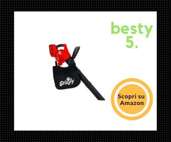 Grizzly, aspirafoglie a batteria con interruttore e regolatore elettronico e batteria a ioni di litio - Comodo e pratico - Besty5