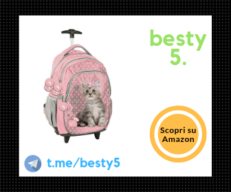Zaino trolley Sweet Kitty impermeabile e leggero