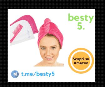 Asciugamano per capelli in microfibra - Set da 2 pezzi + pettine in omaggio, soluzione pratica